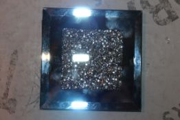 Lot to Contain 32 Brand New Rhinestone Mirror Square Coasters Combined RRP £150