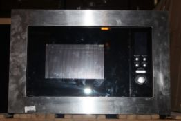 Stainless Steel and Black Fully Integrated Single Microwave RRP £110 (Public Viewing and