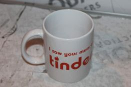 Lot to Contain 18 Brand New Fizz Creations I Saw Your Mum on Tinder Mugs Combined RRP £100