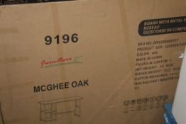Boxed McGee Oak Work Desk RRP £45 (11284) (Public Viewing and Appraisals Available)