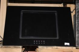 Black Glass 60cm Angled Cooker Hood (Public Viewing and Appraisals Available)