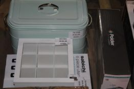 Lot to Contain 4 Assorted Items to Include Polder Dish Racks, Tea Bag Holders, Sabechi 6 Piece