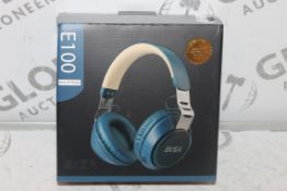 Boxed Pair of EKSA E100 Blue and Beige Headphones RRP £60