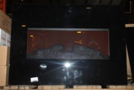 Incenti Black Glass Electric Wall Mounted Fireplace RRP £120 (Public Viewing and Appraisals