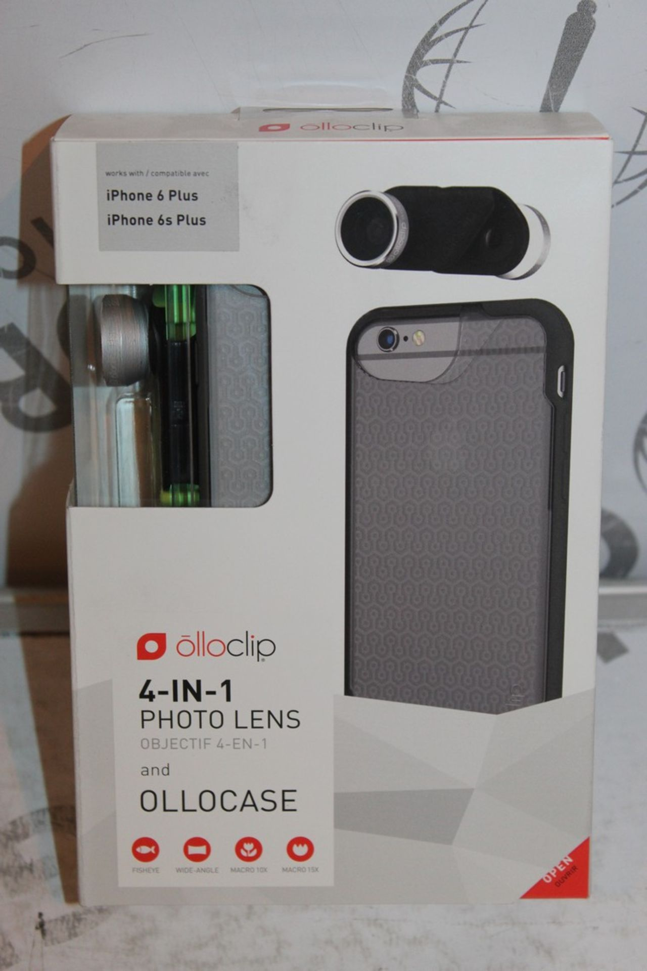 Lot 10 - Lot to Contain 5 Boxed, Brand-New, Ollo Clip, 4in1 iPhone 6 + and 6s + Photo Cases, Combined RRP£