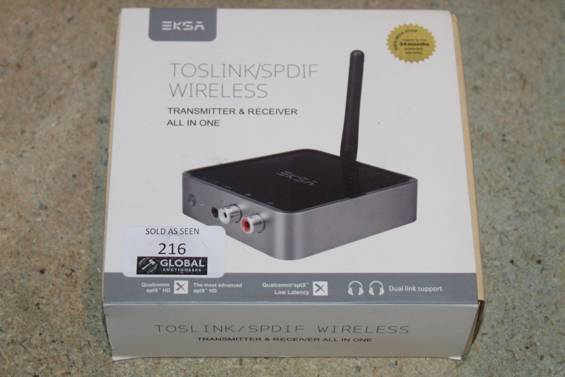 Lot 216 - Boxed EKSA, TOS INKA SPDIF Wireless, Transmitter and Receiver all in 1, RRP£100.00