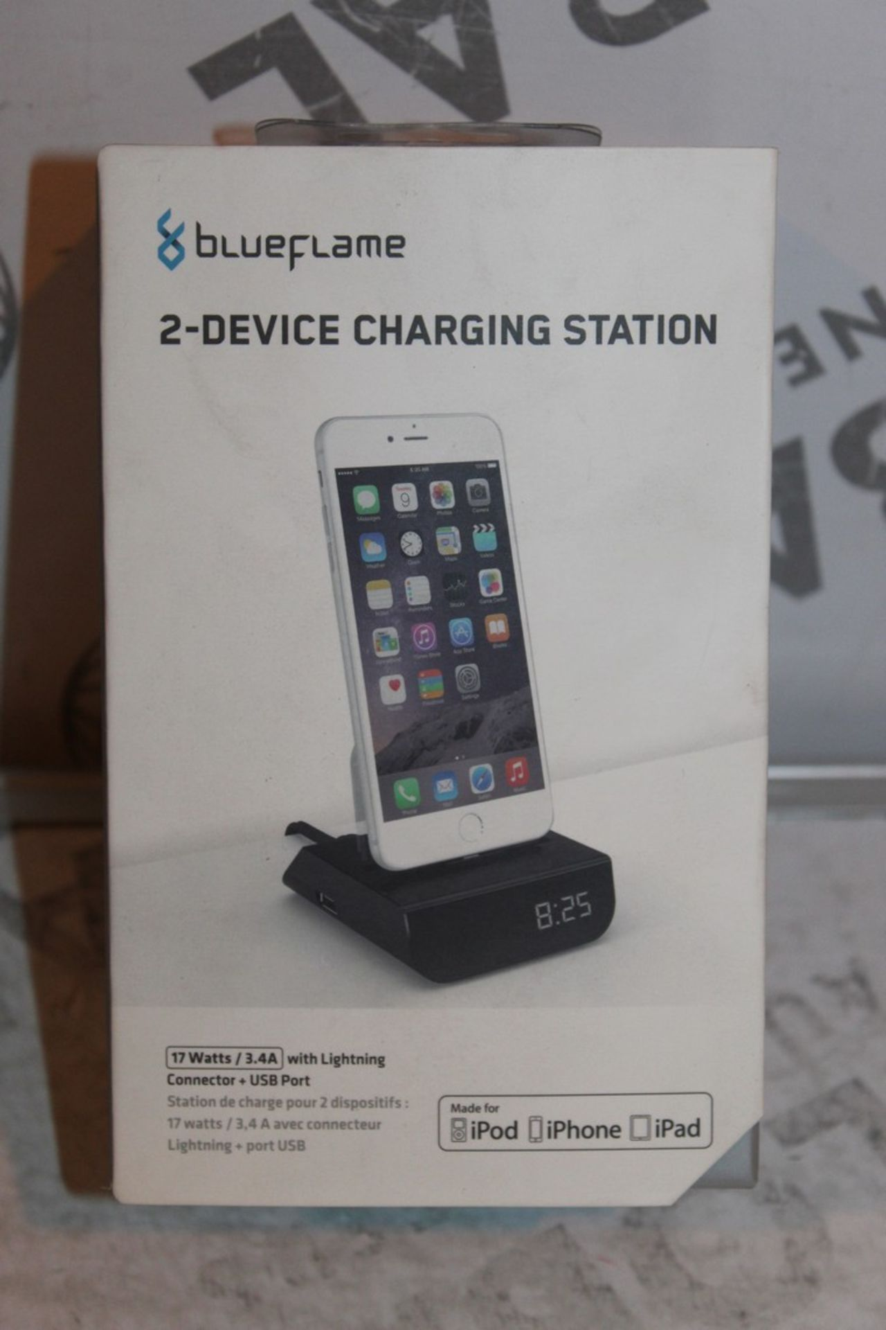 Lot 53 - Boxed Brand-new Blue Flame, 2 Device. Charging Station, RRP£45.00