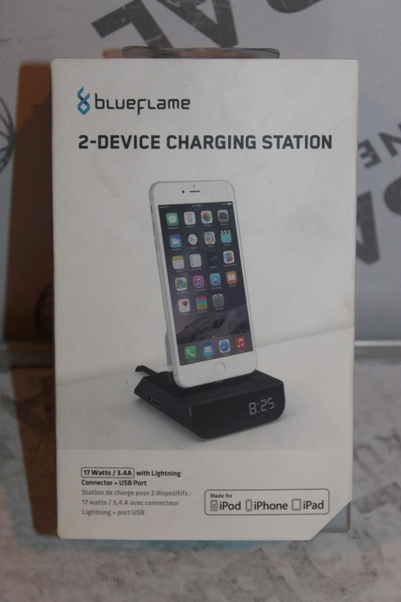 Lot 55 - Boxed Brand-new Blue Flame, 2 Device. Charging Station, RRP£45.00