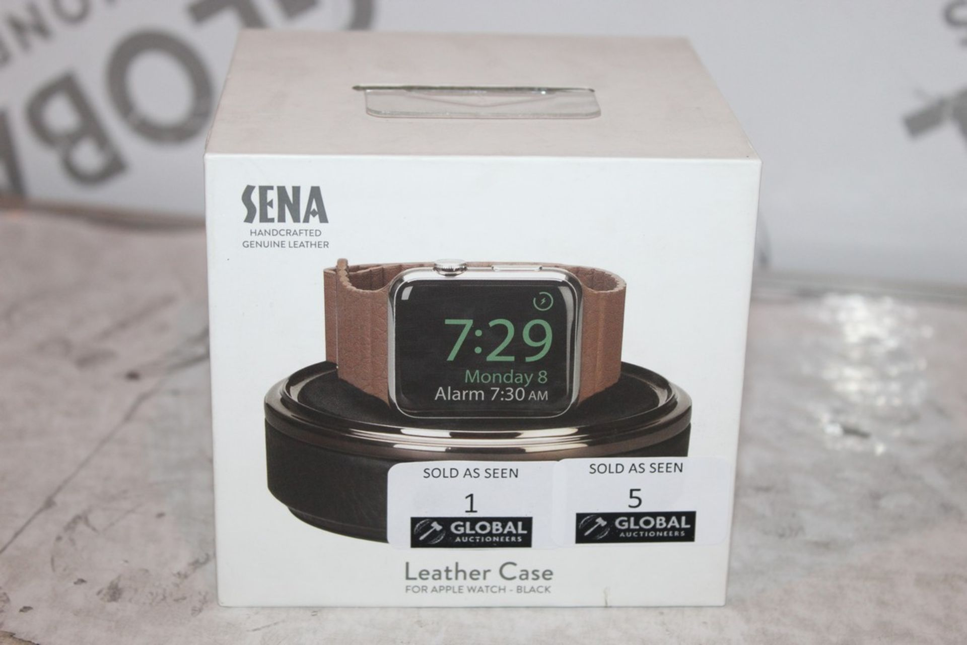 Lot 3 - Boxed Brand-new Sena, Hand Crafted genuine Leather, Black Apple Watch Box, RRP£45.00