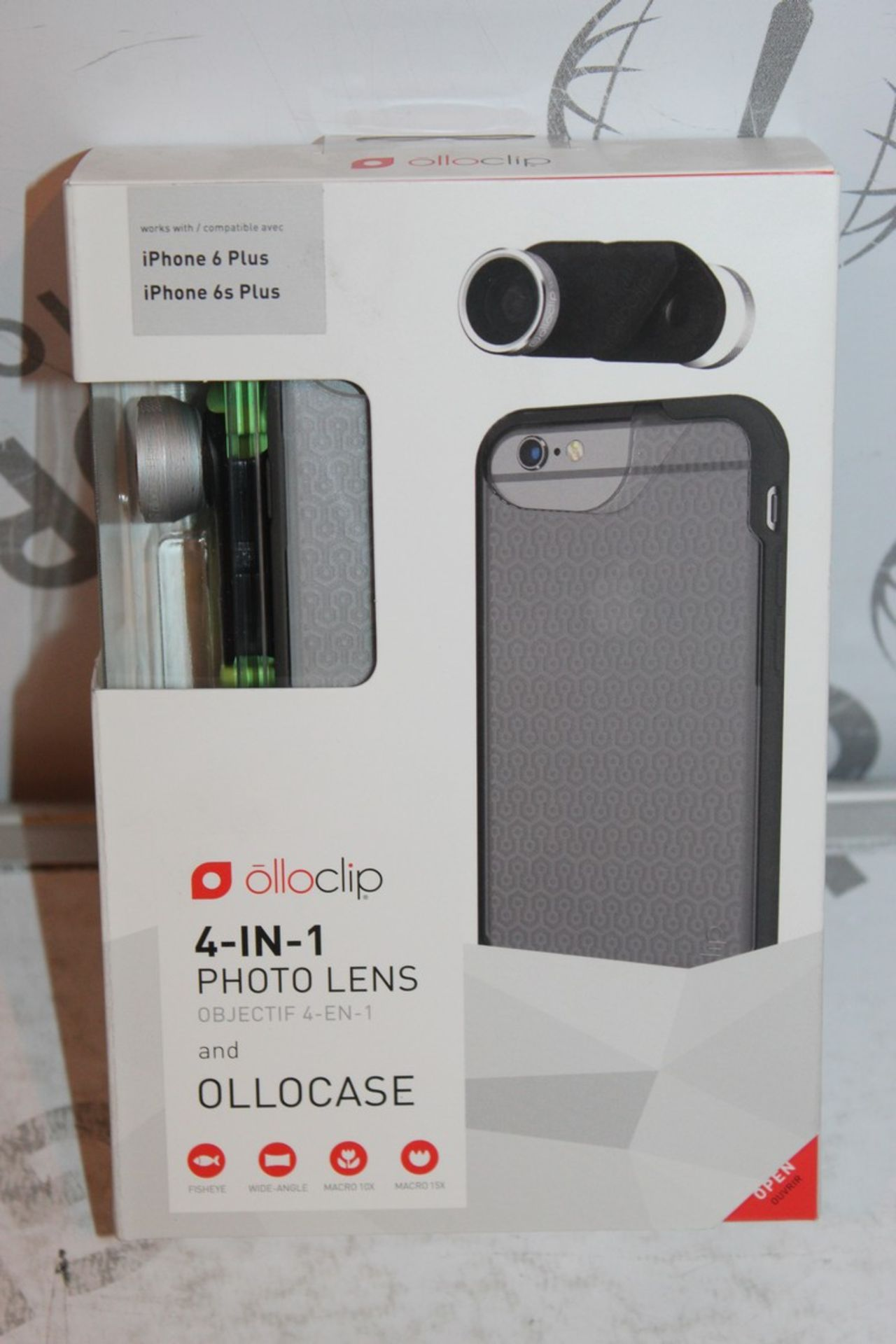 Lot 9 - Lot to Contain 5 Boxed, Brand-New, Ollo Clip, 4in1 iPhone 6 + and 6s + Photo Cases, Combined RRP£