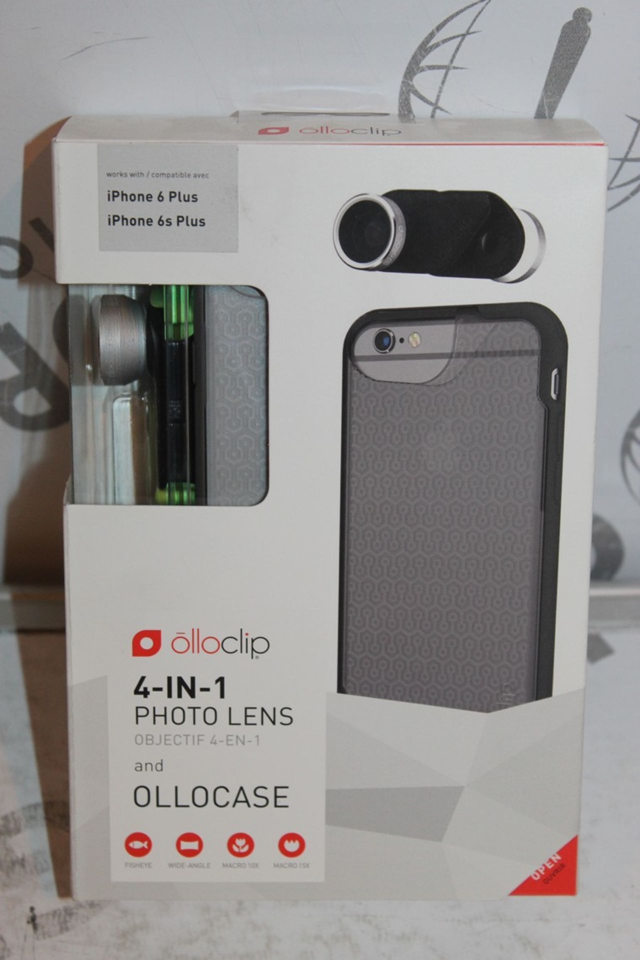 Lot 18 - Lot to Contain 5 Boxed, Brand-New, Ollo Clip, 4in1 iPhone 6 + and 6s + Photo Cases, Combined RRP£