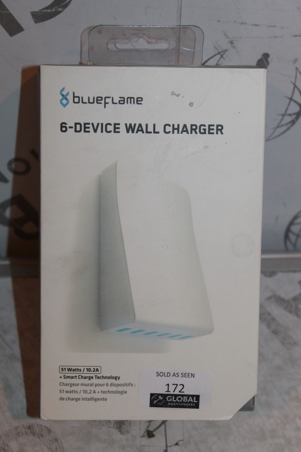 Lot 172 - Boxed, Blue Flame, 6 Device Wall Charger, RRP£45.00