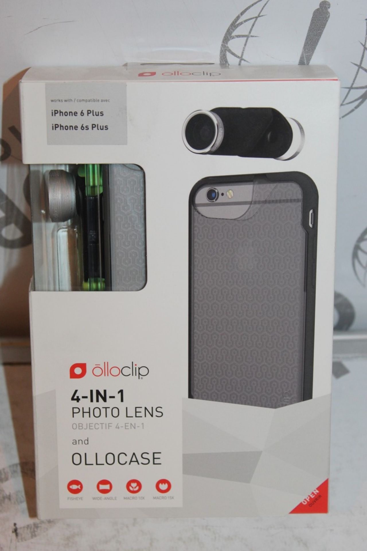 Lot 15 - Lot to Contain 5 Boxed, Brand-New, Ollo Clip, 4in1 iPhone 6 + and 6s + Photo Cases, Combined RRP£
