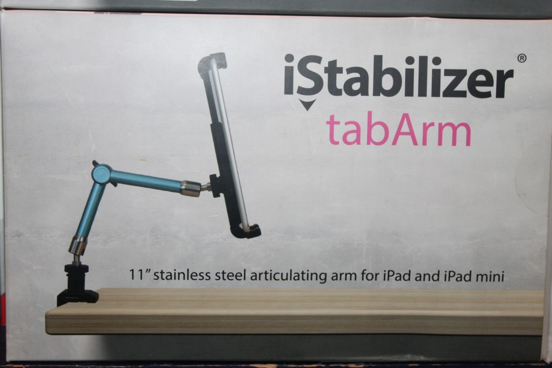 Lot 21 - Lot to Contain 3 I Stabilizer Tab arm 11IN Stainless Steel, Articulating Arm For iPad and iPad Mini,