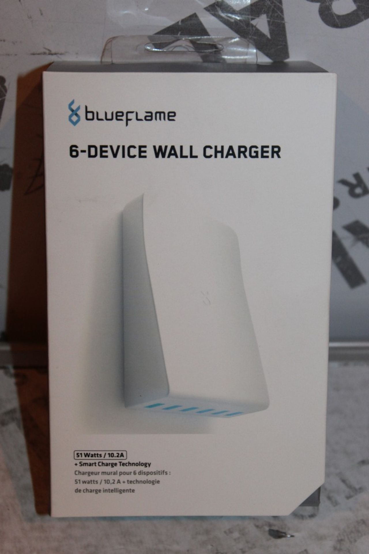 Lot 103 - Boxed, Brand-New, Blue Flame, 6 Device Wall Charger, RRP£35.00