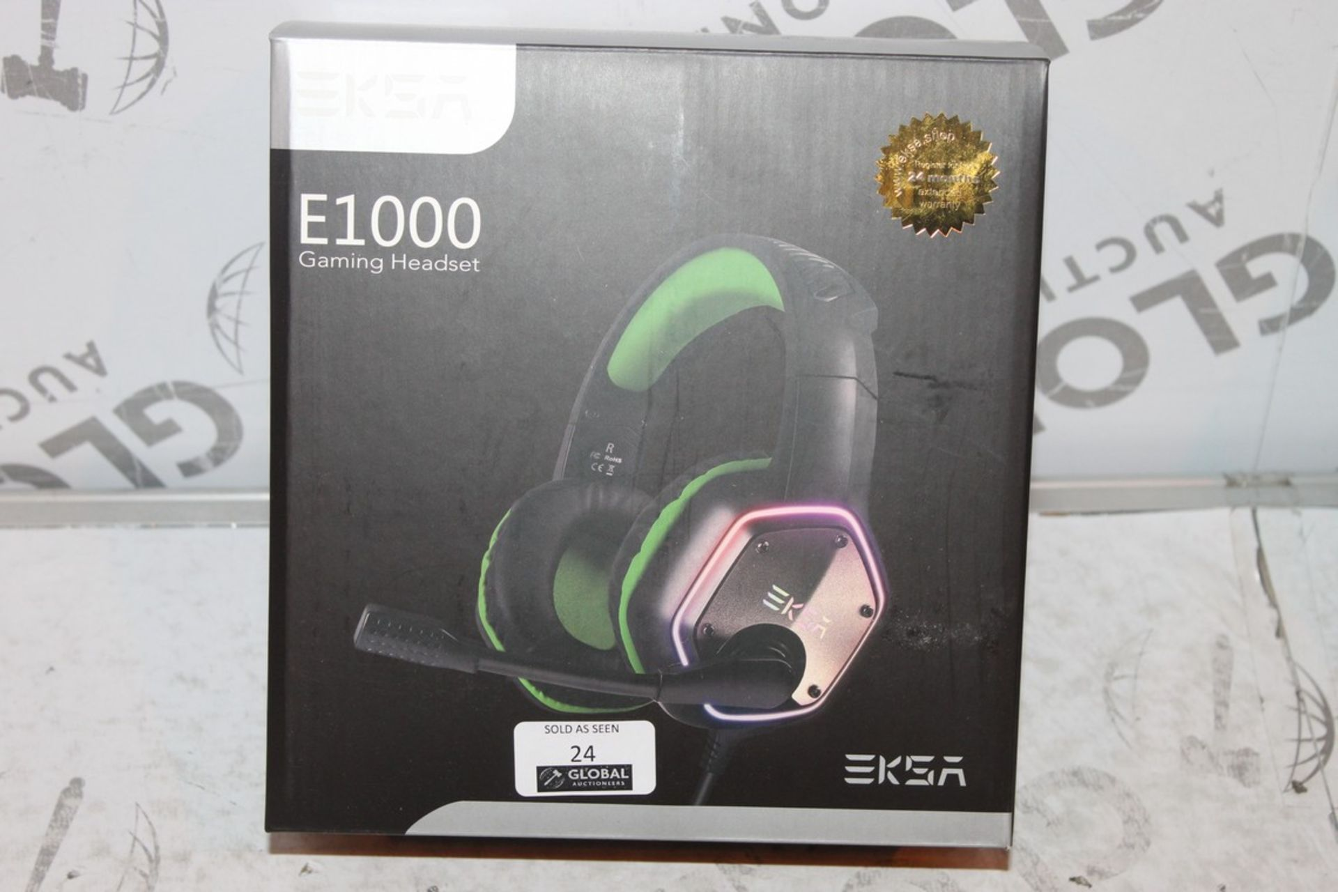 Lot 24 - Boxed Pair of EKSA E1000, Gaming Headphones with Microphone, RRP£45.00