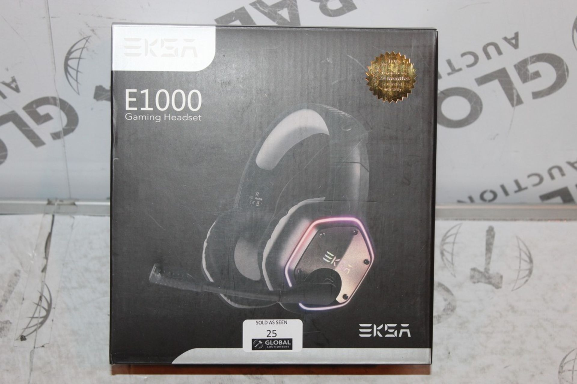 Lot 25 - Boxed Pair of EKSA E1000, Gaming Headphones with Microphone, RRP£45.00
