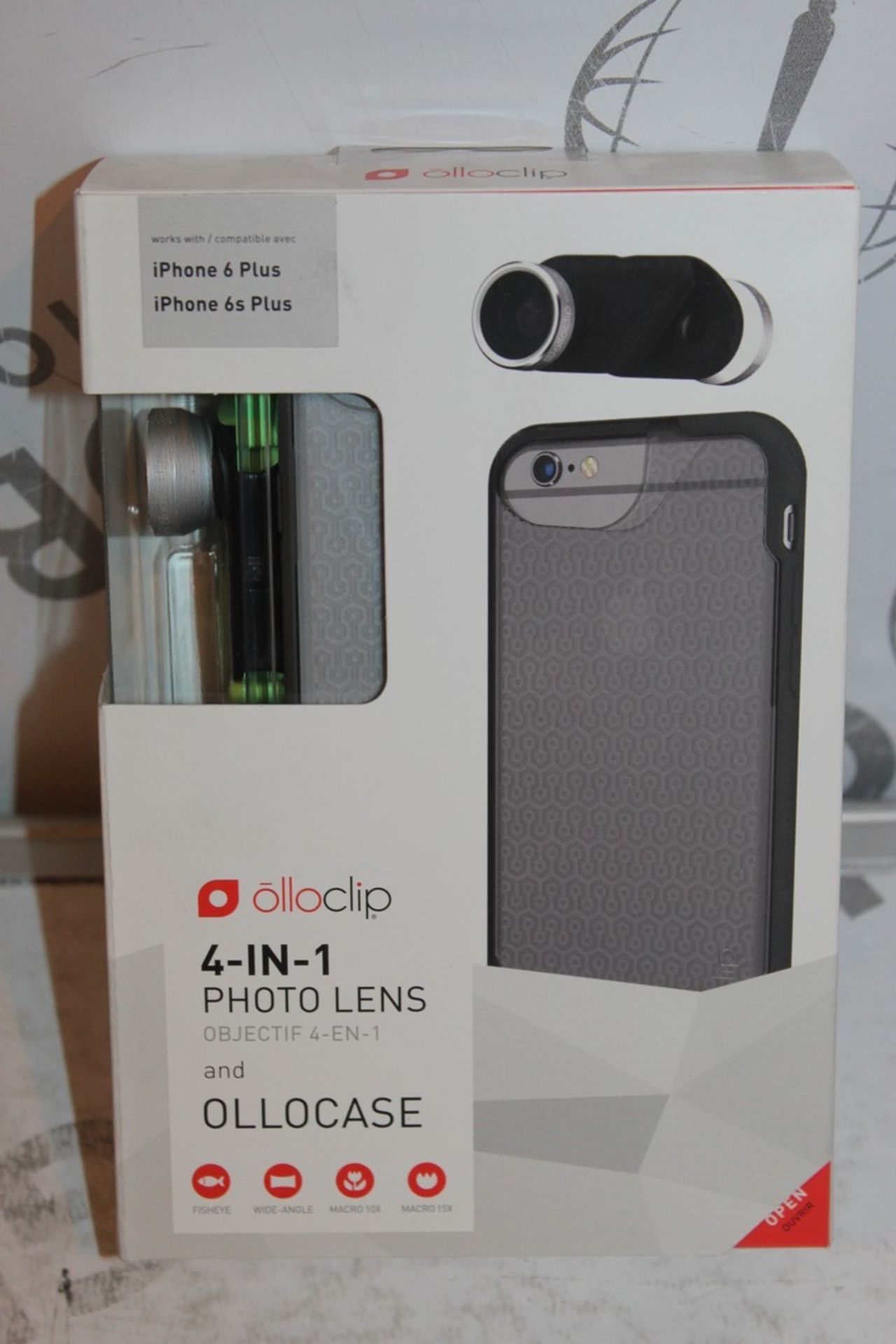 Lot 14 - Lot to Contain 5 Boxed, Brand-New, Ollo Clip, 4in1 iPhone 6 + and 6s + Photo Cases, Combined RRP£