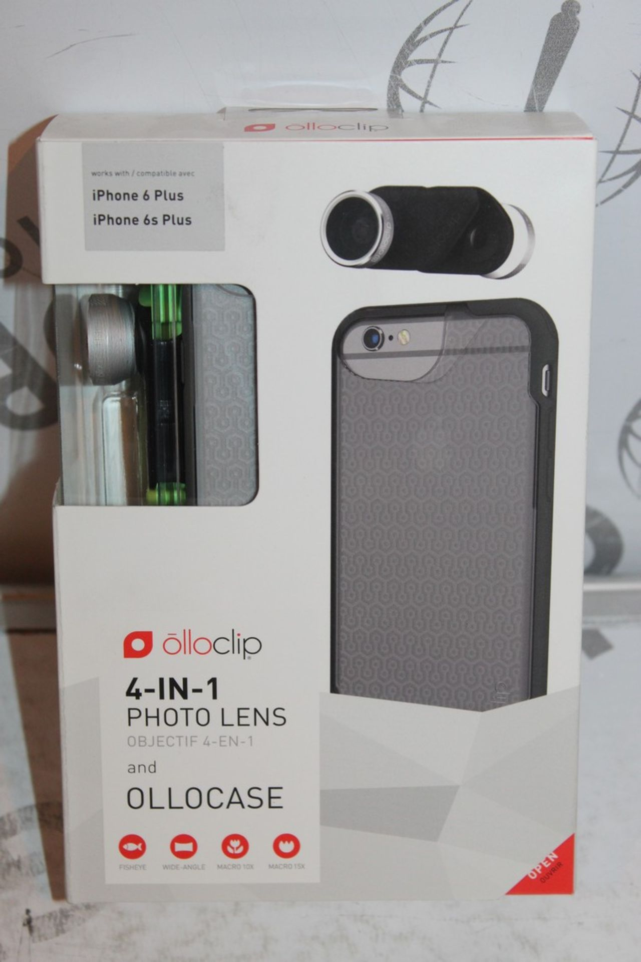 Lot 11 - Lot to Contain 5 Boxed, Brand-New, Ollo Clip, 4in1 iPhone 6 + and 6s + Photo Cases, Combined RRP£