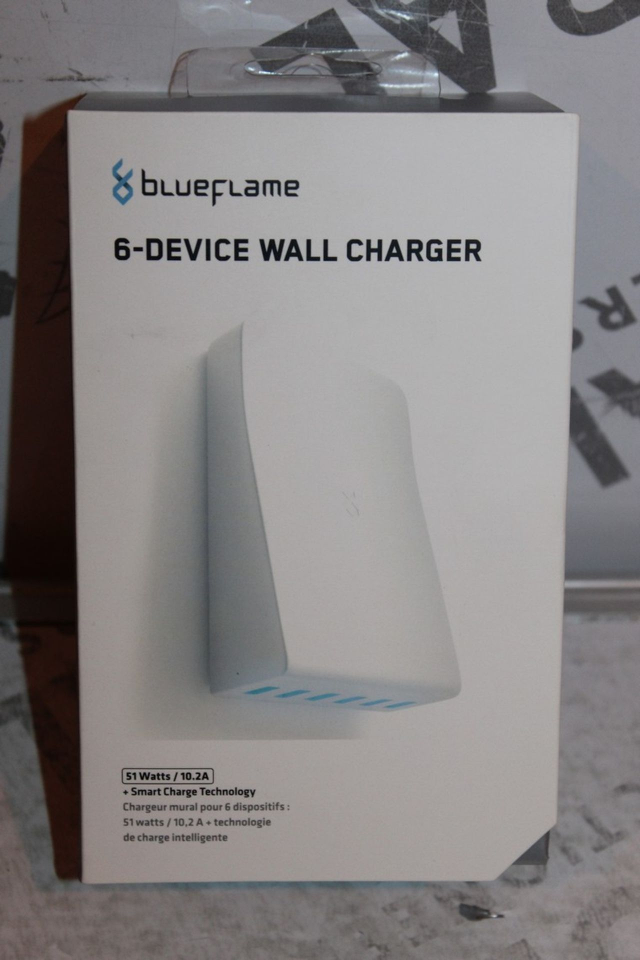 Lot 101 - Boxed, Brand-New, Blue Flame, 6 Device Wall Charger, RRP£35.00