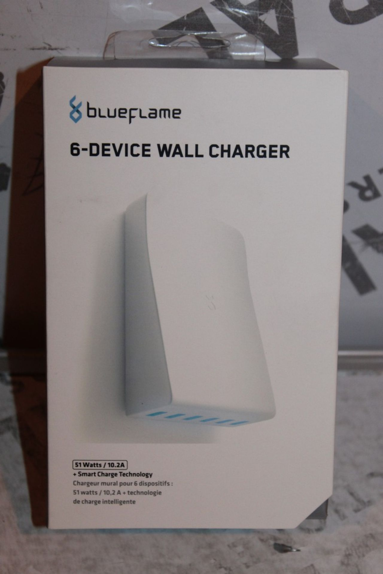 Lot 107 - Boxed, Brand-New, Blue Flame, 6 Device Wall Charger, RRP£35.00
