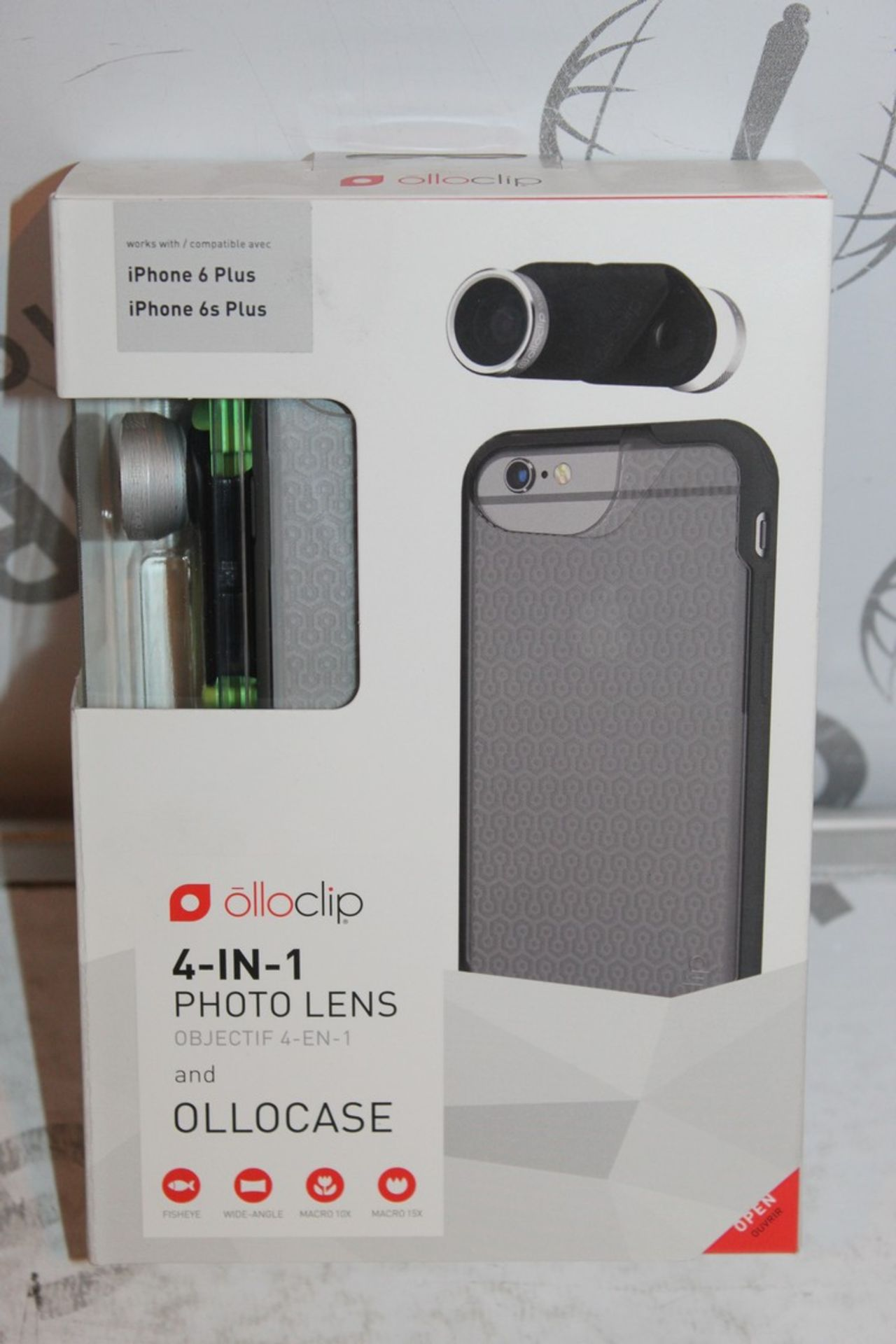 Lot 16 - Lot to Contain 5 Boxed, Brand-New, Ollo Clip, 4in1 iPhone 6 + and 6s + Photo Cases, Combined RRP£