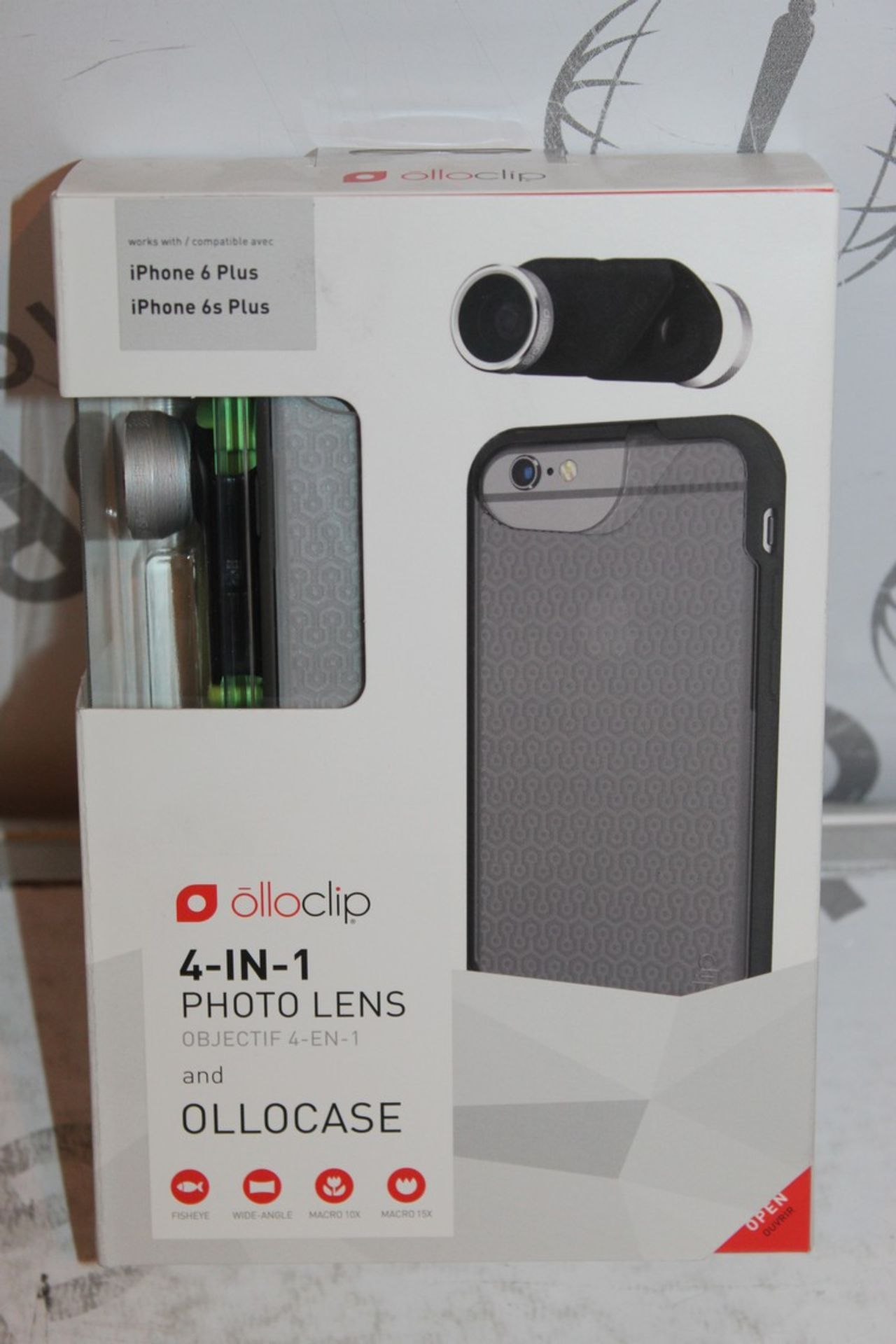 Lot 12 - Lot to Contain 5 Boxed, Brand-New, Ollo Clip, 4in1 iPhone 6 + and 6s + Photo Cases, Combined RRP£