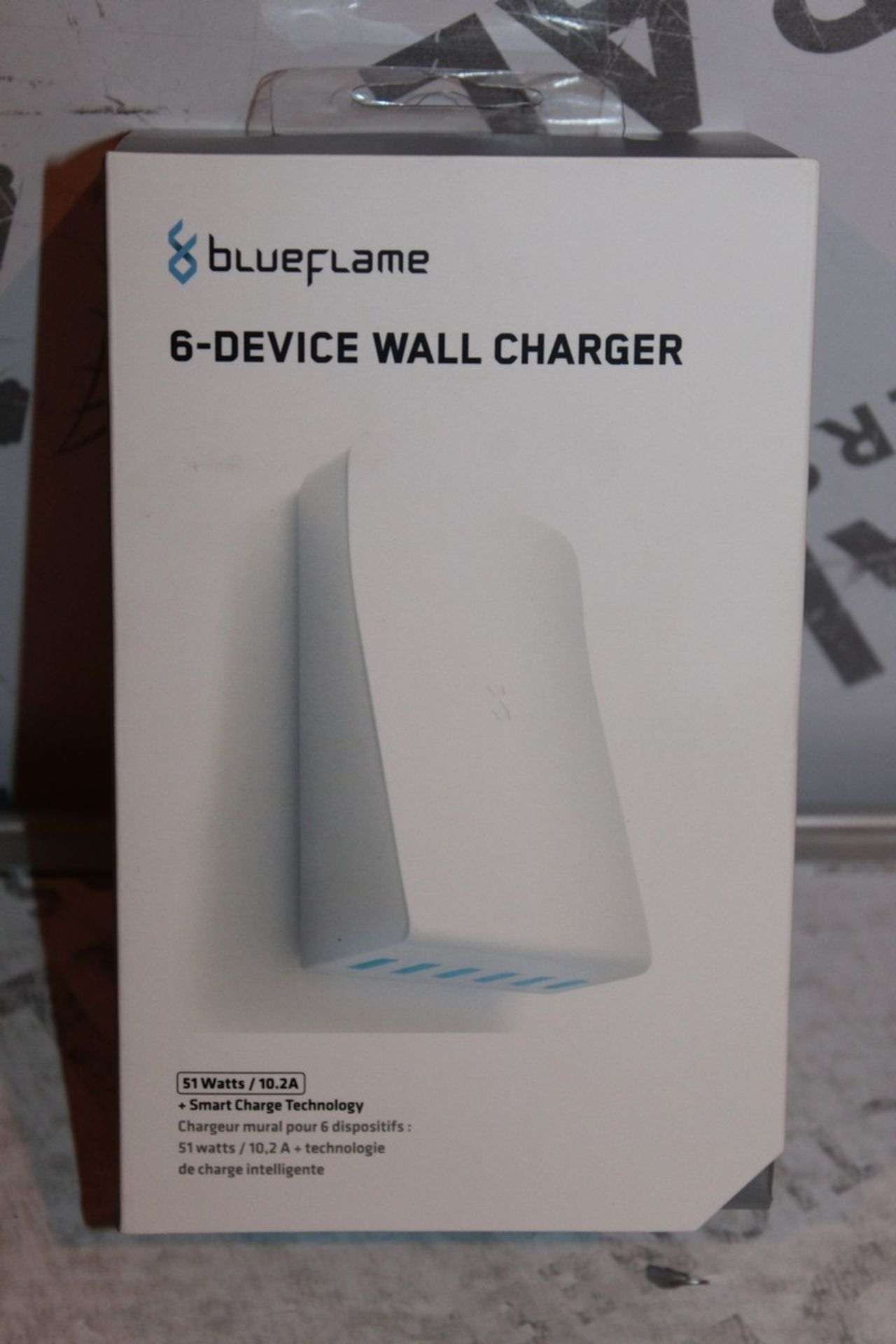 Lot 108 - Boxed, Brand-New, Blue Flame, 6 Device Wall Charger, RRP£35.00