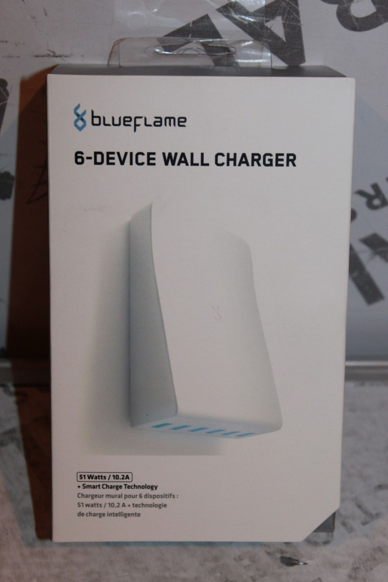 Lot 106 - Boxed, Brand-New, Blue Flame, 6 Device Wall Charger, RRP£35.00