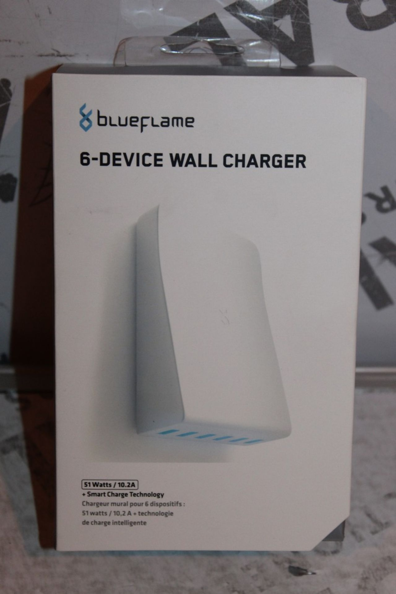 Lot 109 - Boxed, Brand-New, Blue Flame, 6 Device Wall Charger, RRP£35.00