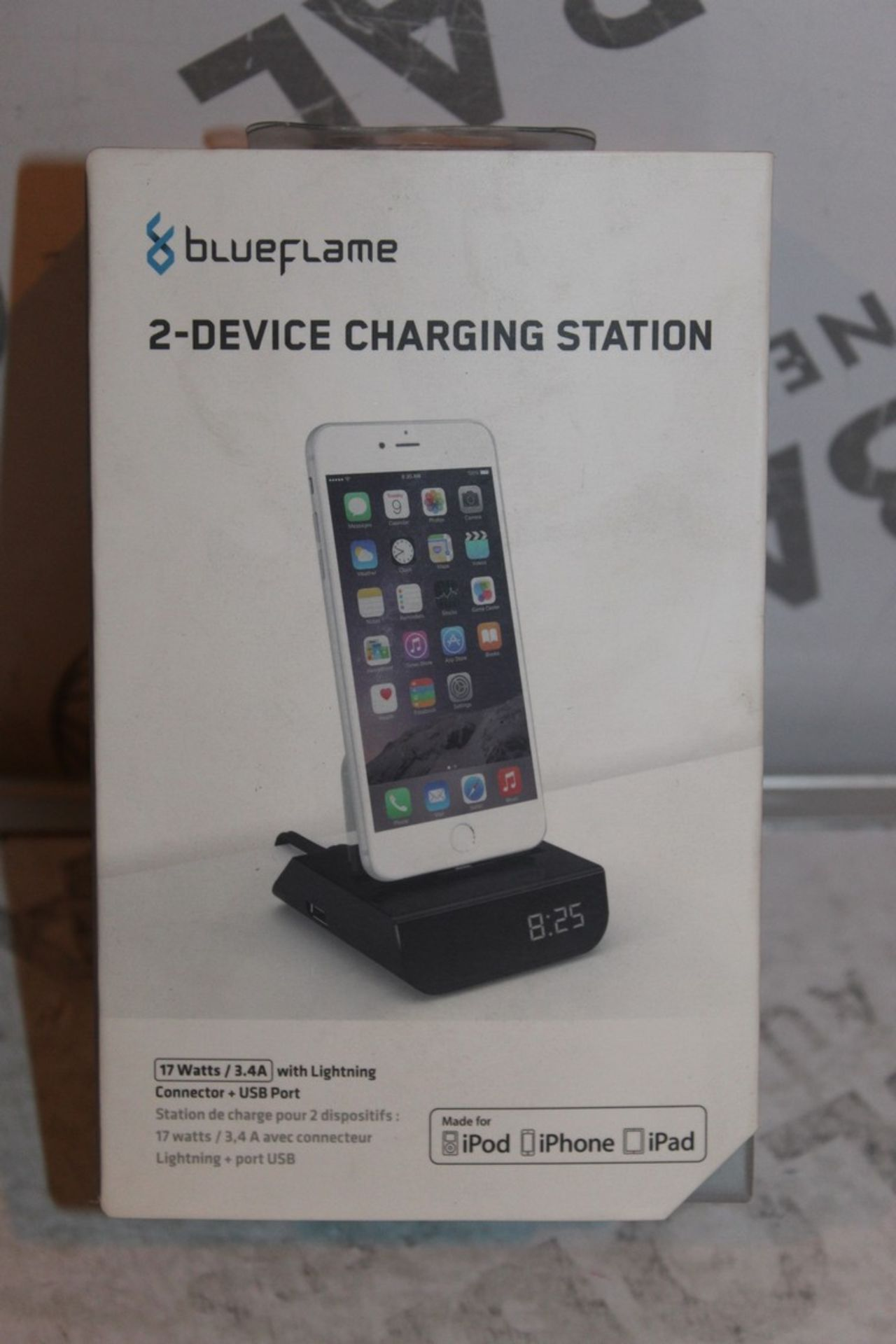 Lot 54 - Boxed Brand-new Blue Flame, 2 Device. Charging Station, RRP£45.00