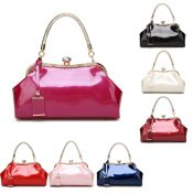 Hot Red, Single Handle, Gloss Ladies, Gold Detail, Night Bag, RRP £36.99