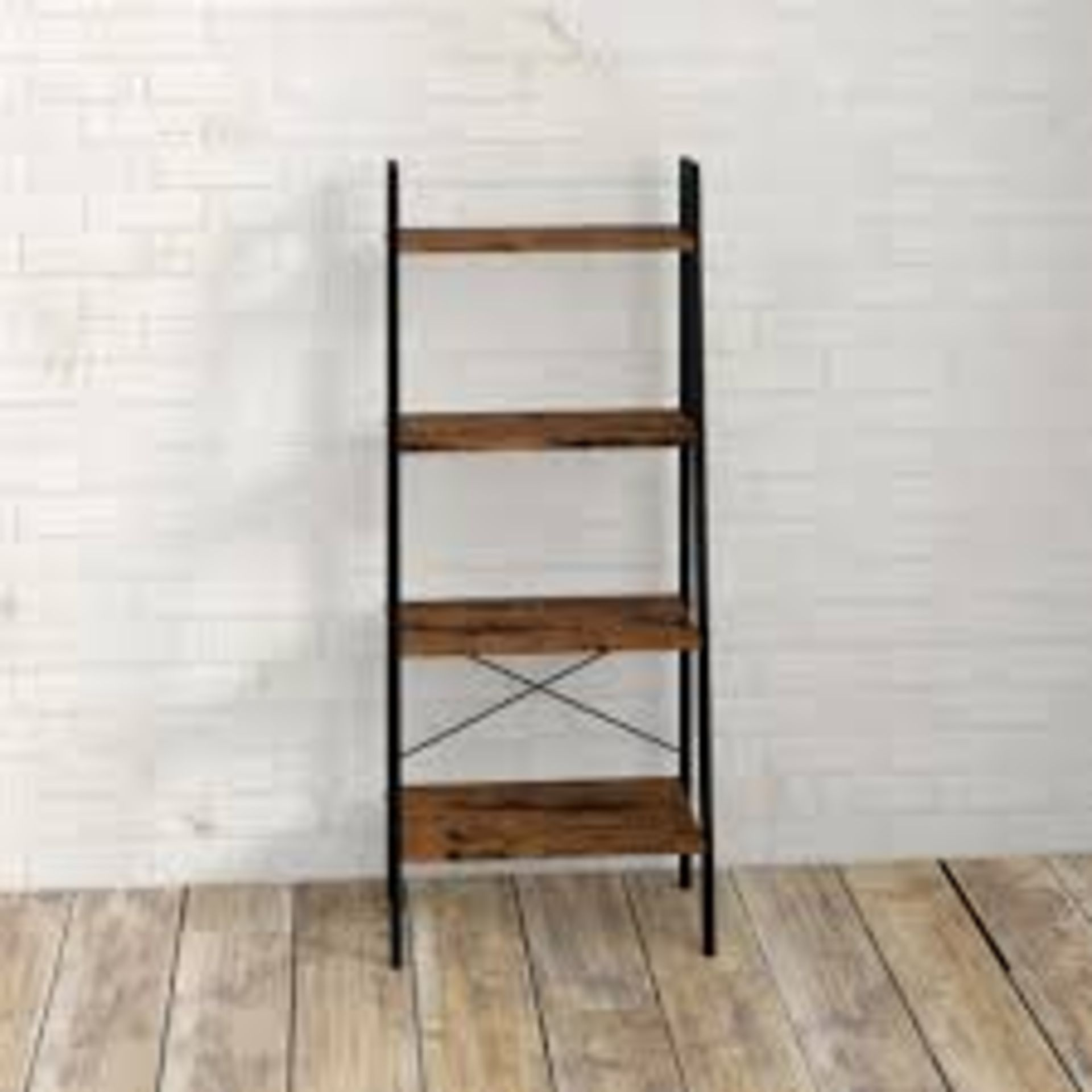 Lot 523 - Boxed, Wrlliston Forge, 4 Tier Bookshelf, rrp£65.00 (17771) (Public Viewing and Appraisals