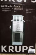 Boxed Krups Bare Grinder GVX2 Coffee Grinder RRP£70.00 Each 00239790 (RET00404432) (Public Viewing