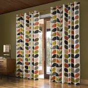 Bagged Pair of Orla Kiely, Fully Lined, Multi Stemmed, Eyelet Headed Curtains, RRP£75.00 (