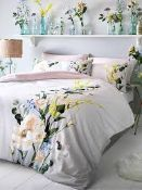 Ted Baker, Elegant King-Size Duvet Cover Set in Grey, RRP£105.00 (4635767) (Public Viewing and