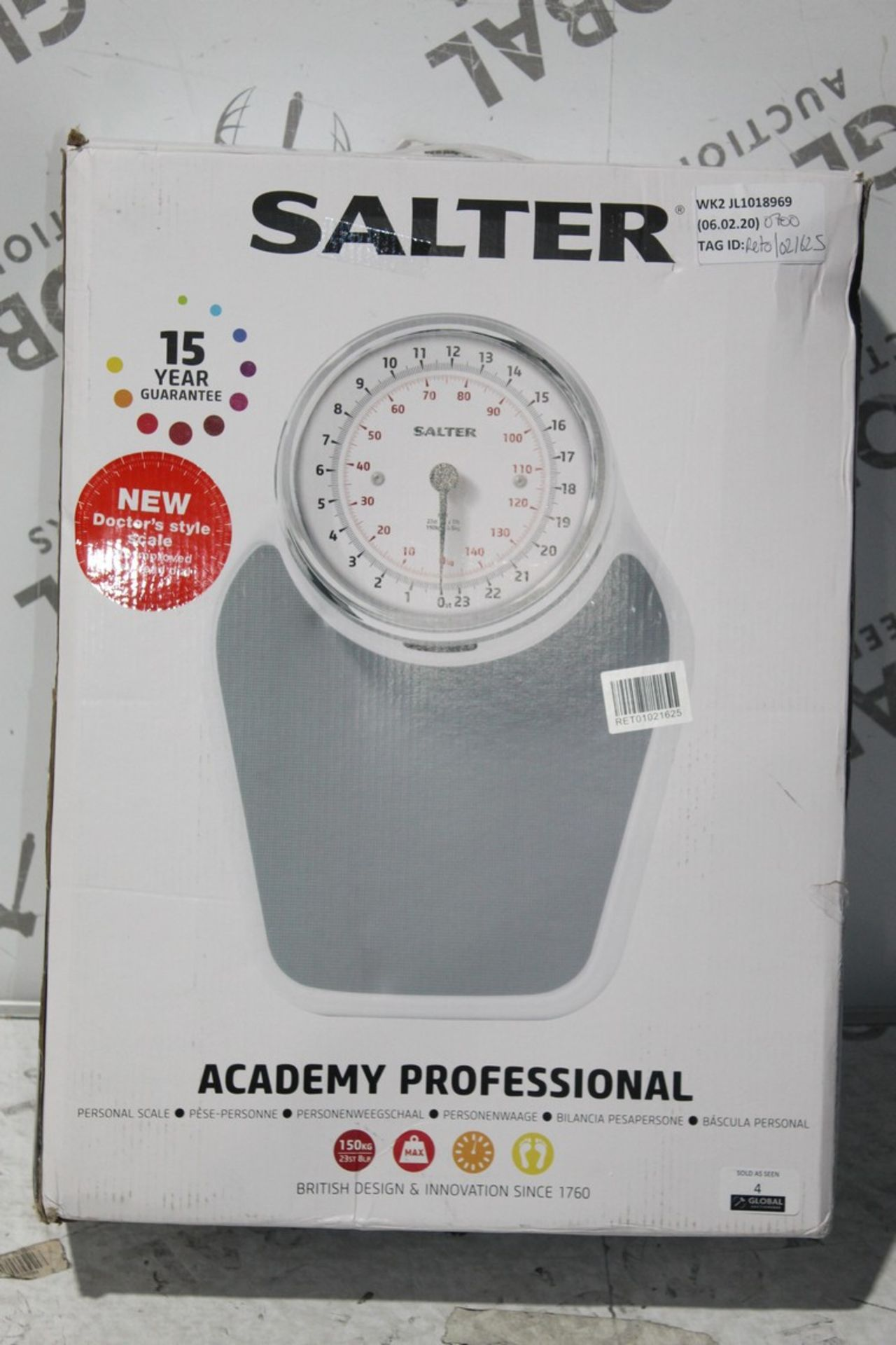 Lot 4 - Boxed Pair of Salta Academy Profession Mechanical Weighing Scales, RRP£70.00 (RET01021625) (Public