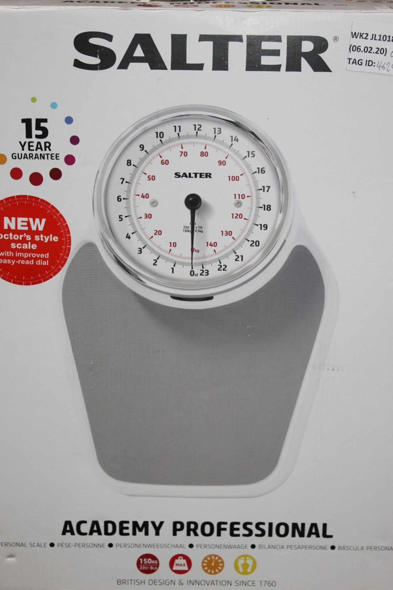 Lot 99 - Boxed Pair of Salta, Academy Professional Weighing Scales, RRP£70.00 (RET00719295) (Public Viewing