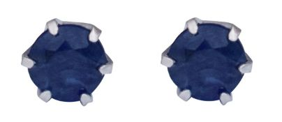 Sapphire earrings in platinum