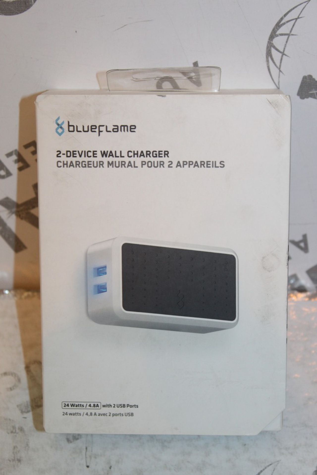 Lot 237 - Boxed Brand New Blue Flame The Duel 2 Device Wall Charger RRP £35