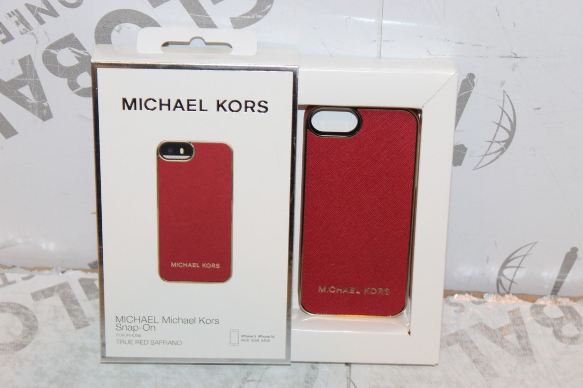 Lot 243 - Lot to Contain 2 Brand New Michael Kors iPhone 5 Snap on Phone Cases Combined RRP £40