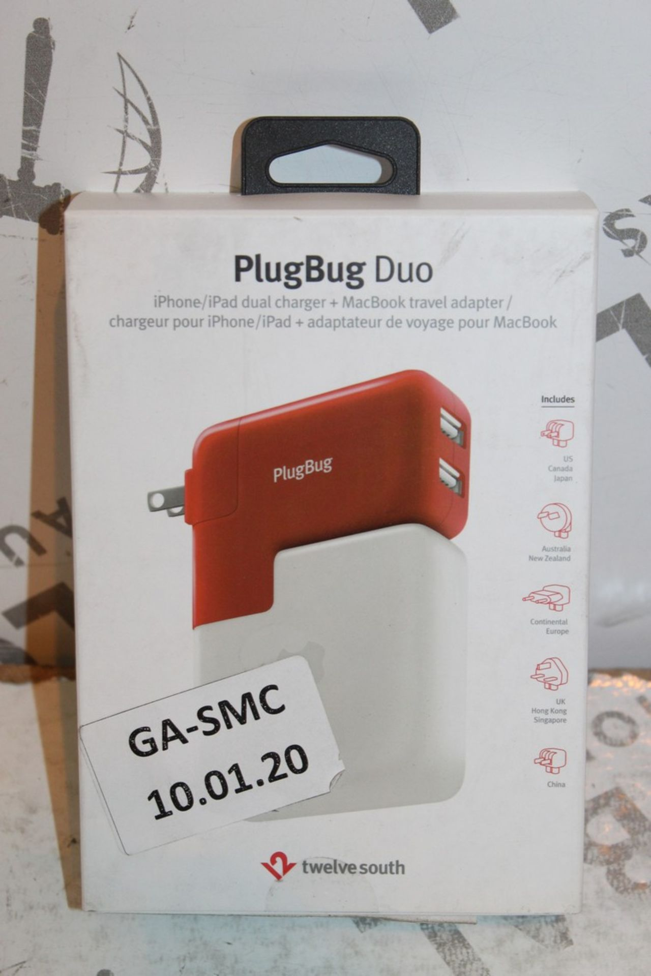 Lot 6 - Lot to Contain 2 Boxed Plugbug Duo Twelve South Multi Chargers with Various Heads Combined RRP £120