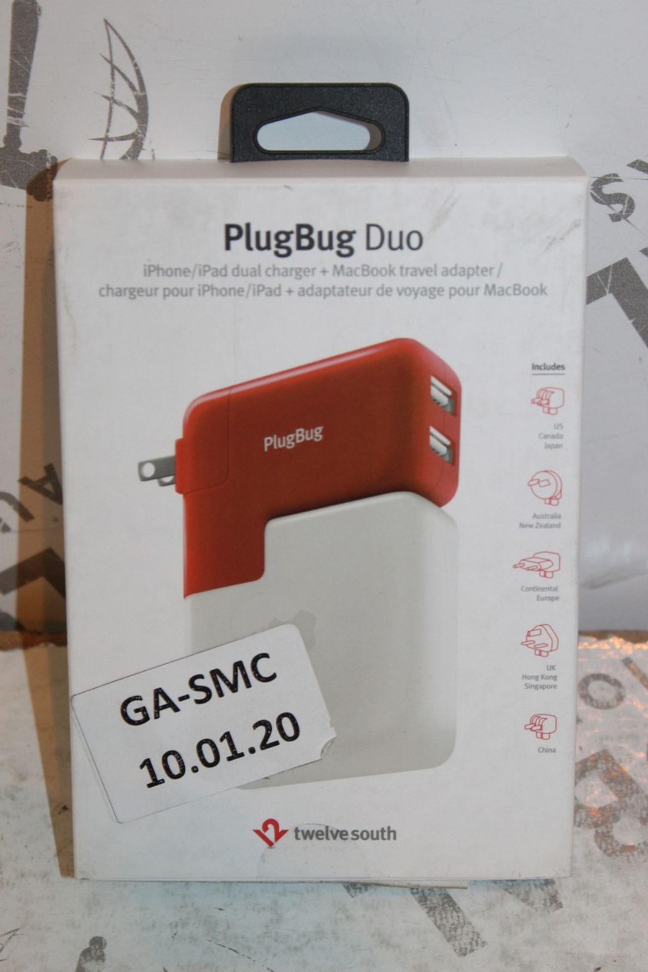 Lot 1 - Lot to Contain 2 Boxed Plugbug Duo Twelve South Multi Chargers with Various Heads Combined RRP £120