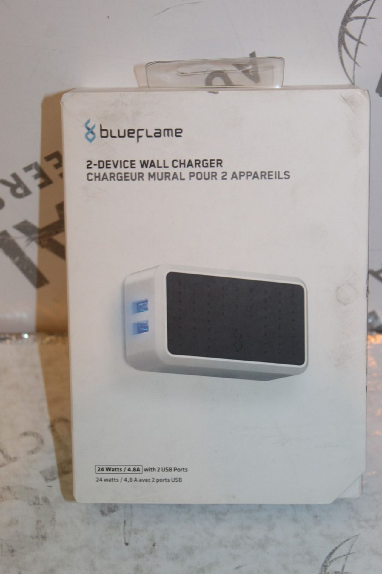 Lot 240 - Boxed Brand New Blue Flame The Duel 2 Device Wall Charger RRP £35