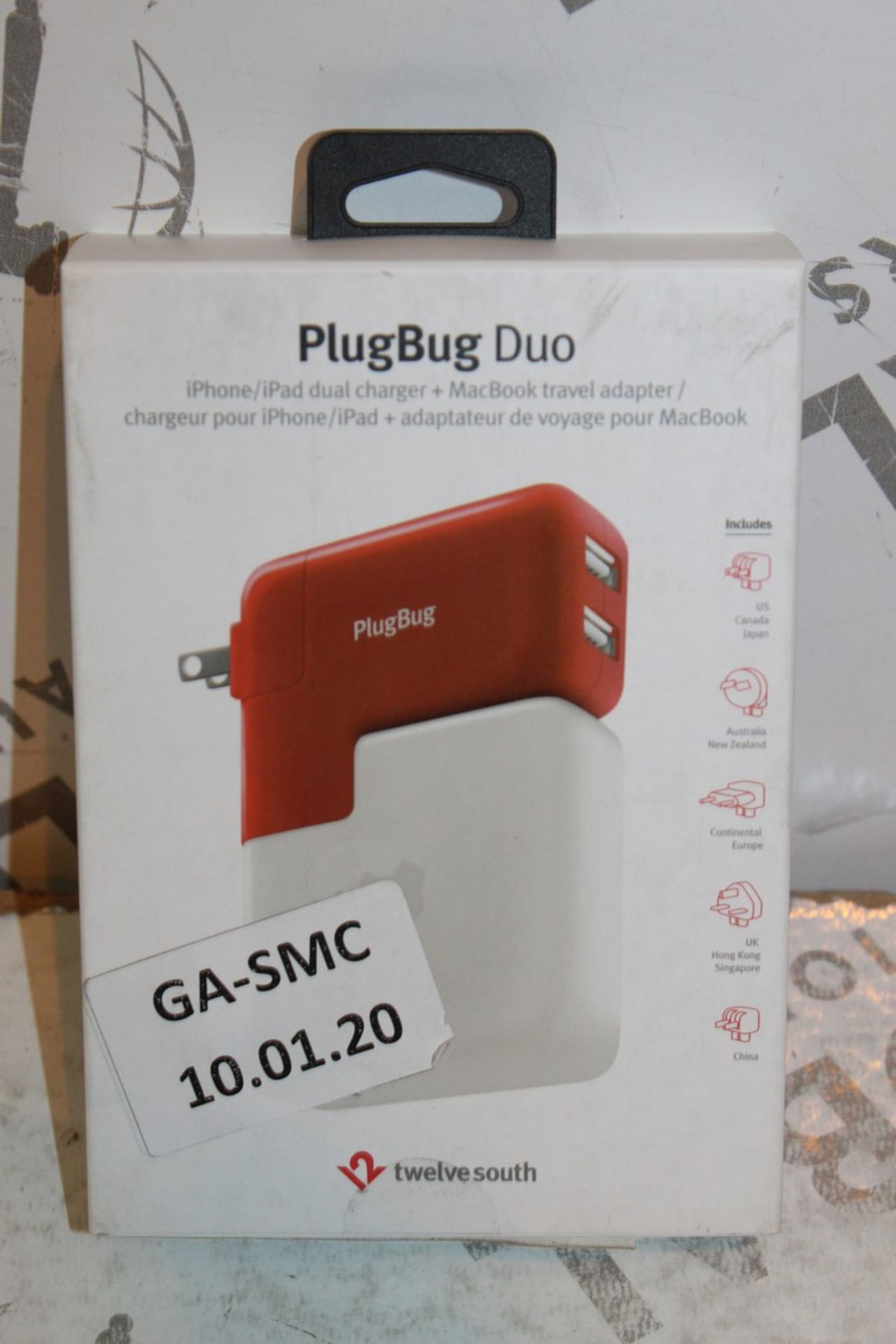 Lot 2 - Lot to Contain 2 Boxed Plugbug Duo Twelve South Multi Chargers with Various Heads Combined RRP £120