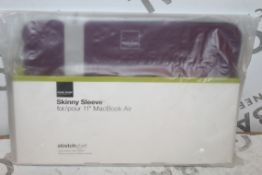 "Lot to Contain 5 Brand New Acmi Made 11"" Skinny Sleeve for MacBook Air Purple RRP £100"