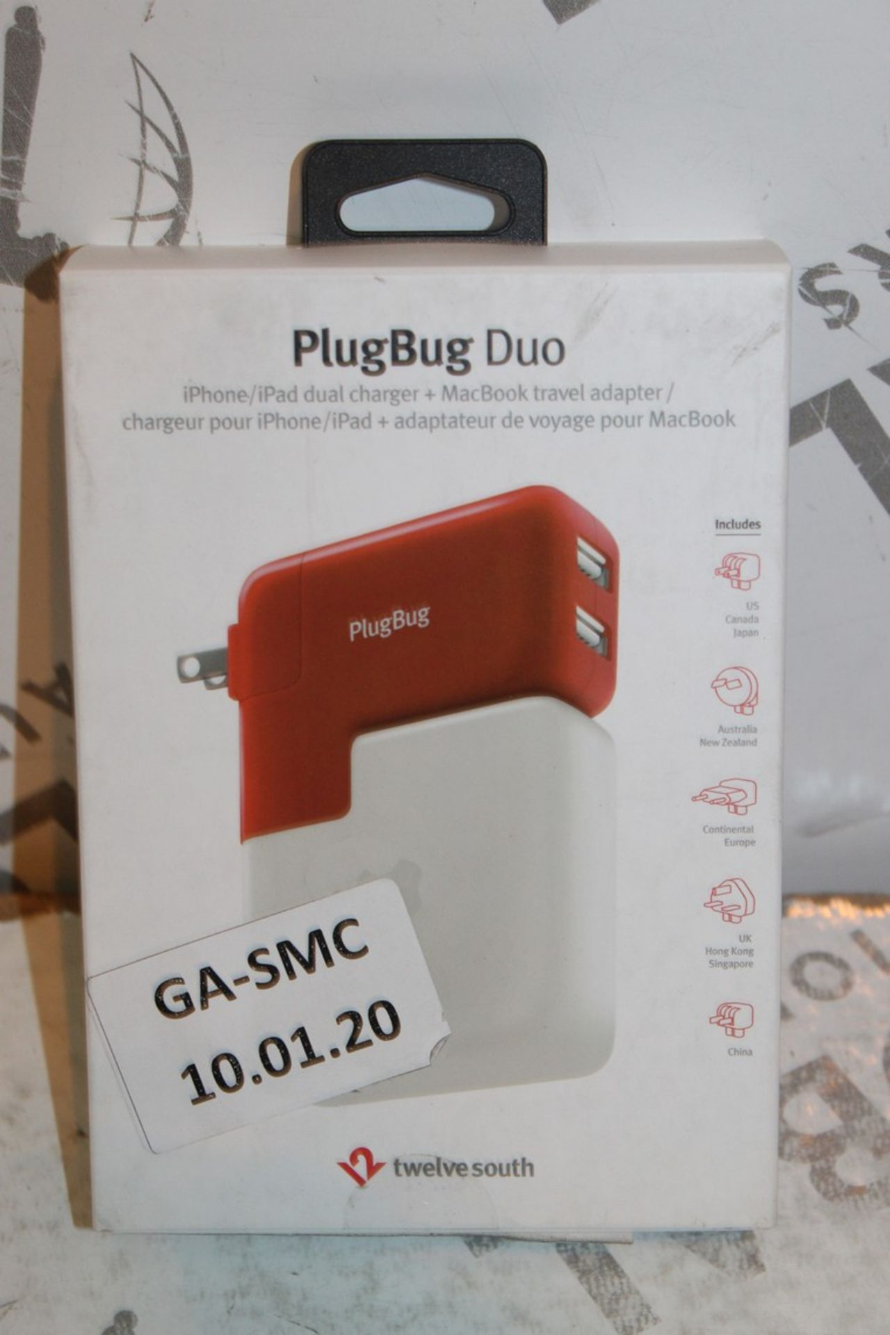 Lot 7 - Lot to Contain 2 Boxed Plugbug Duo Twelve South Multi Chargers with Various Heads Combined RRP £120