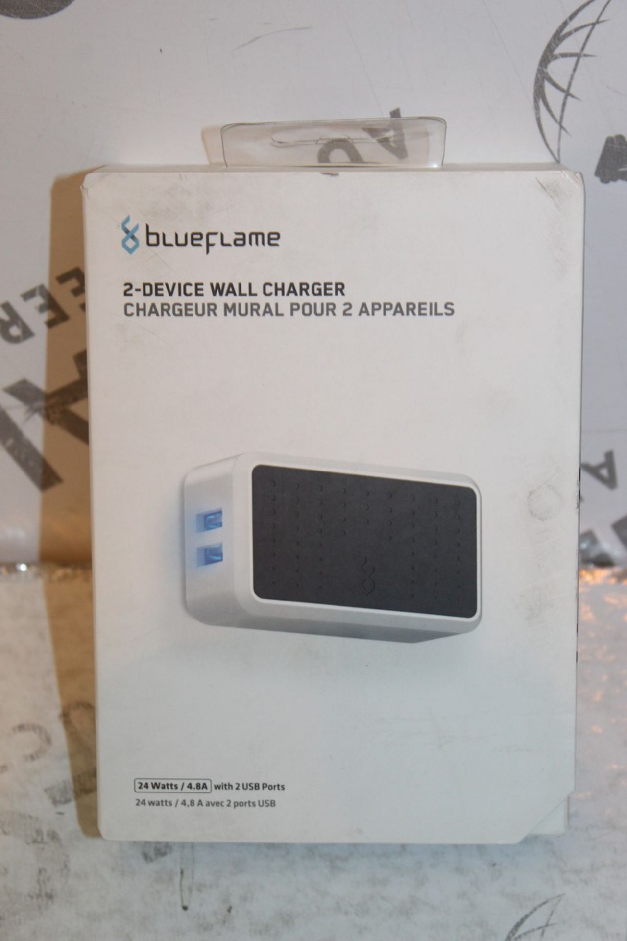 Lot 241 - Boxed Brand New Blue Flame The Duel 2 Device Wall Charger RRP £35