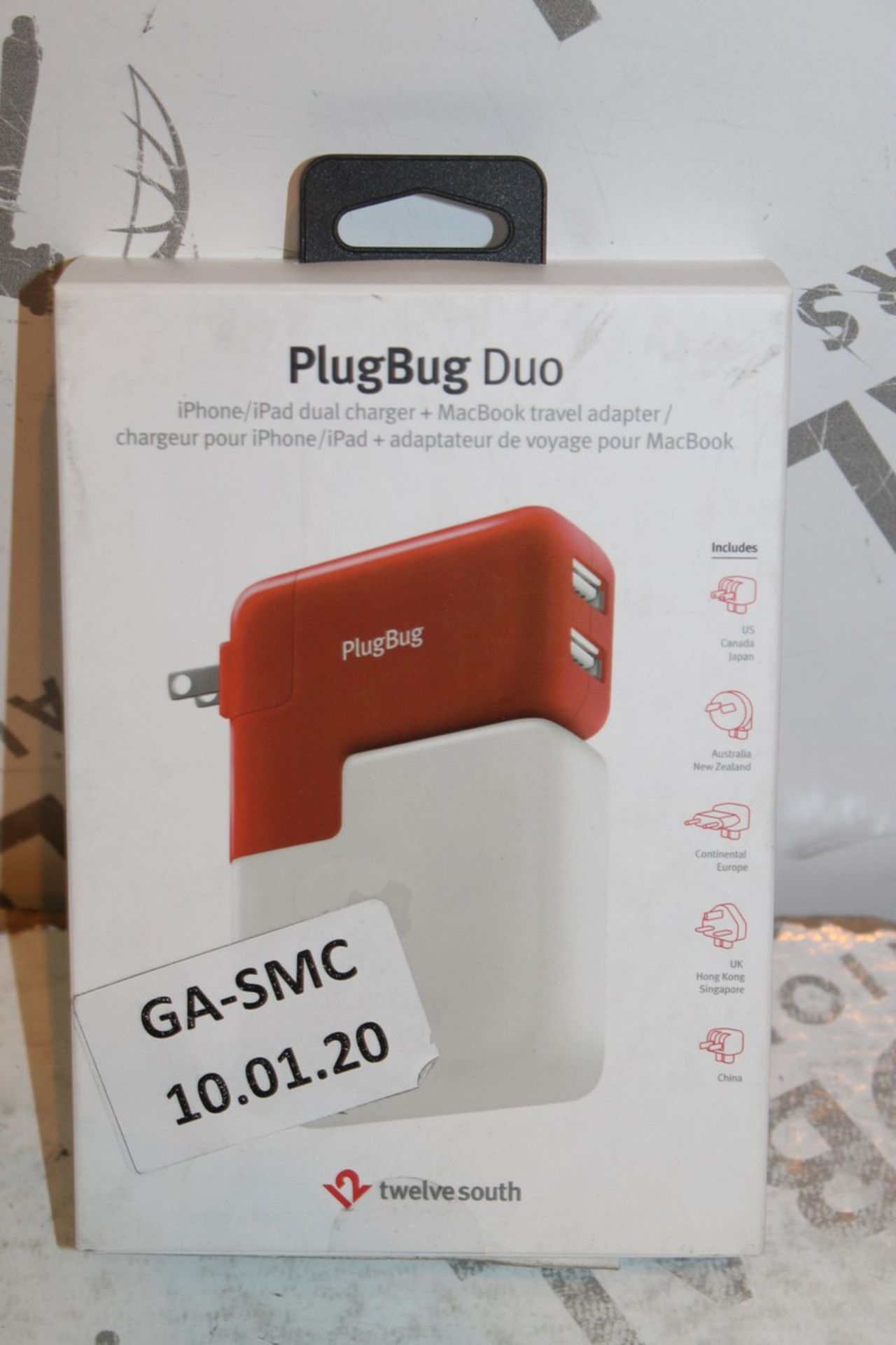Lot 4 - Lot to Contain 2 Boxed Plugbug Duo Twelve South Multi Chargers with Various Heads Combined RRP £120
