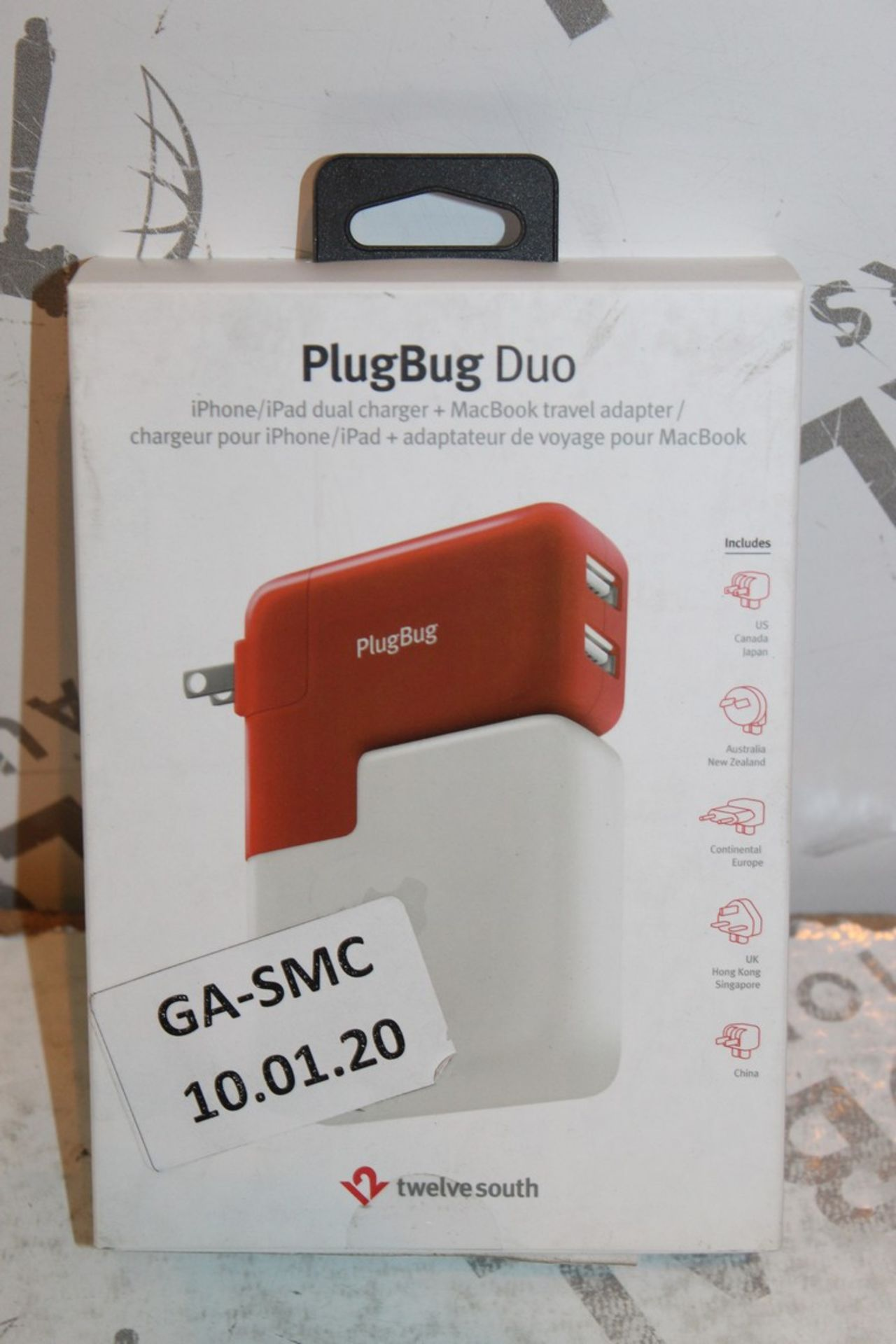 Lot 5 - Lot to Contain 2 Boxed Plugbug Duo Twelve South Multi Chargers with Various Heads Combined RRP £120